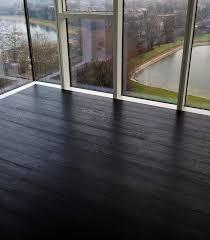 Interior Minimalist Interior Design With Dark Brown Hard Wood