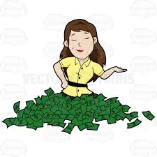 Image result for lady with cash