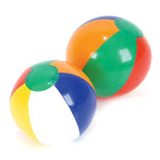 beach ball on beach. Amazon.com: Inflatable Traditional Style Rainbow Novelty Mini Beach Balls Party Pack Favors For Decorations, Weddings, Luaus, Kids Summer Pool Parties, Ball On