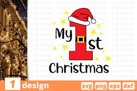 My First Christmas Graphic By Svgocean Creative Fabrica