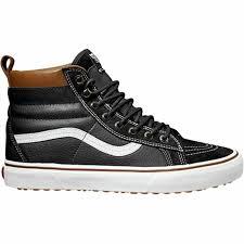 vans sk8 hi uni leather black true sneakers men s 3 5m women s 5m