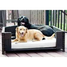 Details about Dog Bed Frame Rattan Wicker Sofa Cushion Indoor Outdoor Small Comfort Pet Cat