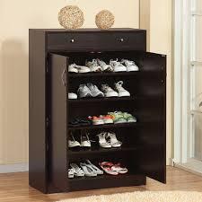shoe organizer furniture. Five Shelf Coffee Bean Finish Shoe Storage Organizer Furniture