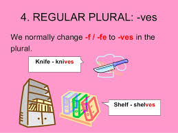 plural form of knife plural nouns