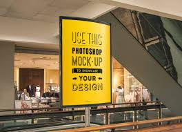 Shopping is fun, you see people would never waste the moment and opportunity to go for a shopping spree. Shopping Mall Advertising Poster Mockup Mockup World