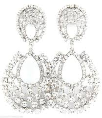 costume jewelry clip on earrings big crystal rhinestone chandelier clip on earrings 3 costume party pageant