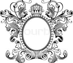 Stock vector of Antique Frame Engraving Scalable And Editable