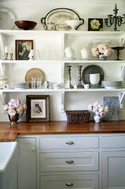 Shelves For Kitchen Cabinets Glass Shelves Kitchen Cabinets