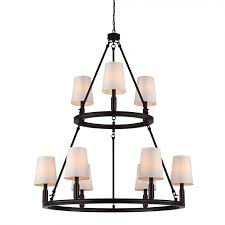 murray feiss f2937 3 6orb lismore 9 light chandelier in oil rubbed bronze with ivory