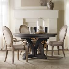 corsica dark wood round dining table