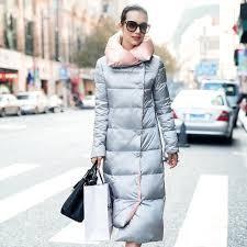womens long puffer jacket winter women long down