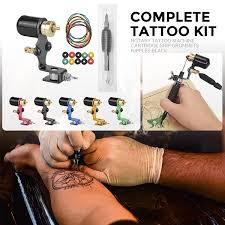Blesiya <b>Complete Tattoo Kit Rotary</b> Tattoo Machine Cartridge Grip ...