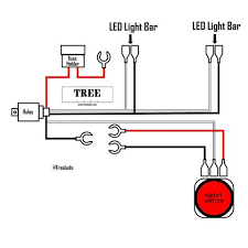 light bar wiring harness (two lead) tree leds