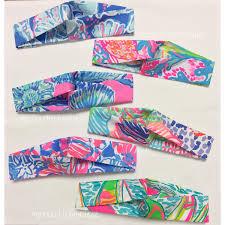 Lilly Pulitzer Fabric The Original Yoga Wrap Headband Made With Preppy Resort