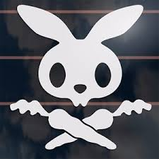 image is loading bunny rabbit pirate skull and crossbones car sticker
