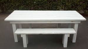 distressed white wood furniture. 7\u0027 Table In Distressed White Finish Wood Furniture E