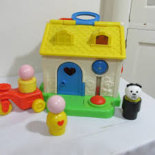 Fisher Price Work Light Fisher Price House Vintage 1984 Activity Jumbo Little People