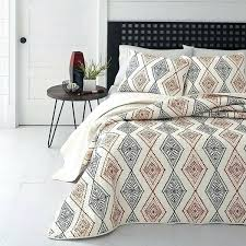 ikat bedding red black off white southwest theme quilt full queen ikat bedding by trina turk