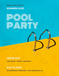 flyer for an event pool party flyer