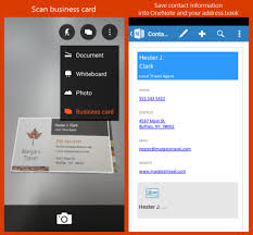 Save Scanned Business Card As Virtual Contact File With Office Lens
