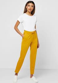 Jacqueline De Yong Size Chart Tie Waist Pants