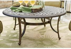 patio coffee table outdoor 42 in sy aluminum round by hampton