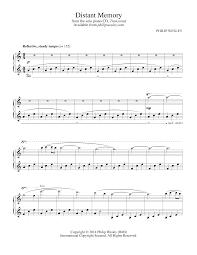 philip wesley sheet music distant memory transcend sheet music philip wesley