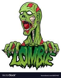 Cartoon Designs Cartoon Zombie Mascot Logo Design