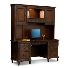 office furniture desk vintage chocolate varnished. Ashland Credenza Desk With Hutch - Cherry Office Furniture Vintage Chocolate Varnished A
