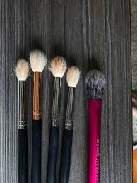 my morphe brushes after their first clean vs my real techniques brush after it s fifth