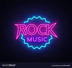Light Rock Music Rock Music Neon Rock Music Neon Sign