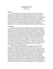 Diffusion And Osmosis Lab Report Sample Lab Report Diffusion And Osmosis Diffusion And Osmosis Bio
