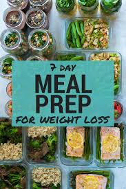 meal prep for weight loss full week of healthy meal prep for weight loss