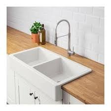 ceramic farmhouse sink.  Ceramic HAVSEN Apron Front Double Bowl Sink White Inside Ceramic Farmhouse Sink H