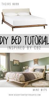 Mid Century Bedroom Furniture Mid Century Inspired Diy Bed