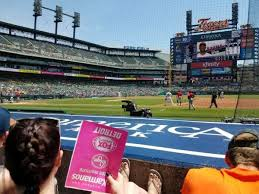 Comerica Park Section 120 Home Of Detroit Tigers