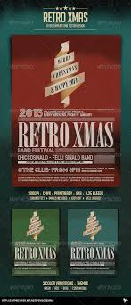 retro christmas flyer template by chiccosinalo graphicriver retro christmas flyer template events flyers
