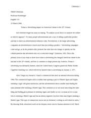 english essay outline three personal visual argument 7 pages history of tobacco advertising