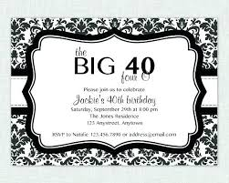 Birthday Invitations Free Download Delectable Birthday Invitation Forty And Fabulous Card 48 48th Templates Free