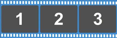 2x6 Filmstrip Print Template 3images
