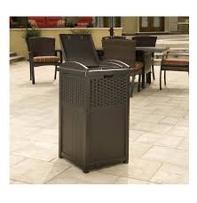 home inspiration design minimalist wicker trash cans stainless steel palm harbor outdoor bin crosley from