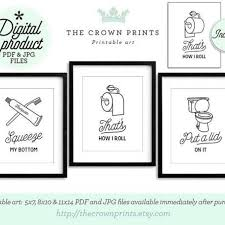 printable bathroom art. Fine Bathroom Funny Wall Art Bathroom Printable Set Of 3 In Art