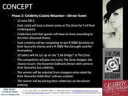 Party Proposal Fascinating Celebrity Cuisine Meander Event Proposal