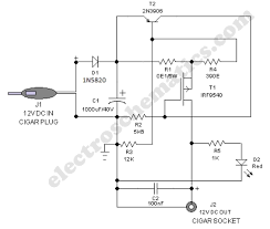 safe v car adapter circuit 12 volts car adapter diagram