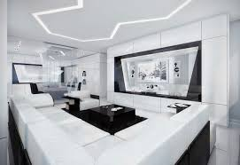 Modern And Futuristic Black And White Apartment Modern Black And New White Modern Living Room Ideas
