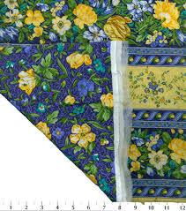 Double Face Quilt Fabric-Blue/Yellow La Fleur   JOANN & Premium Quilt Cotton Fabric 44\u0022-La Fleur Adamdwight.com