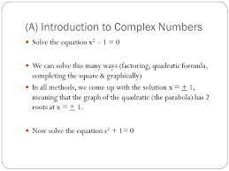 a introduction to complex numbers