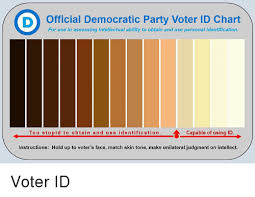 Political Party Chart Official Democratic Party Voter Id Chart For Use In