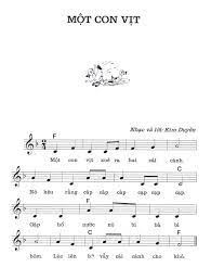 MỘT CON VỊT - Sheet nhạc Piano