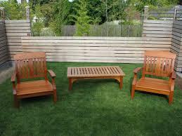 image of teak patio set outdoor
